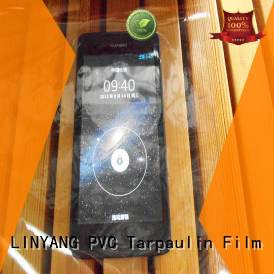LINYANG antifouling clear pvc film customized for outdoor