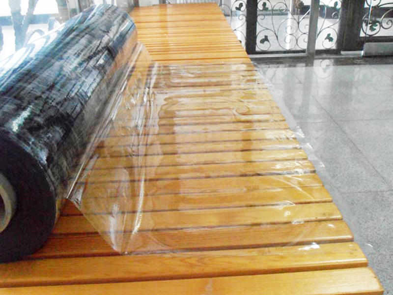 Waterproof, anti-fouling transparent PVC film