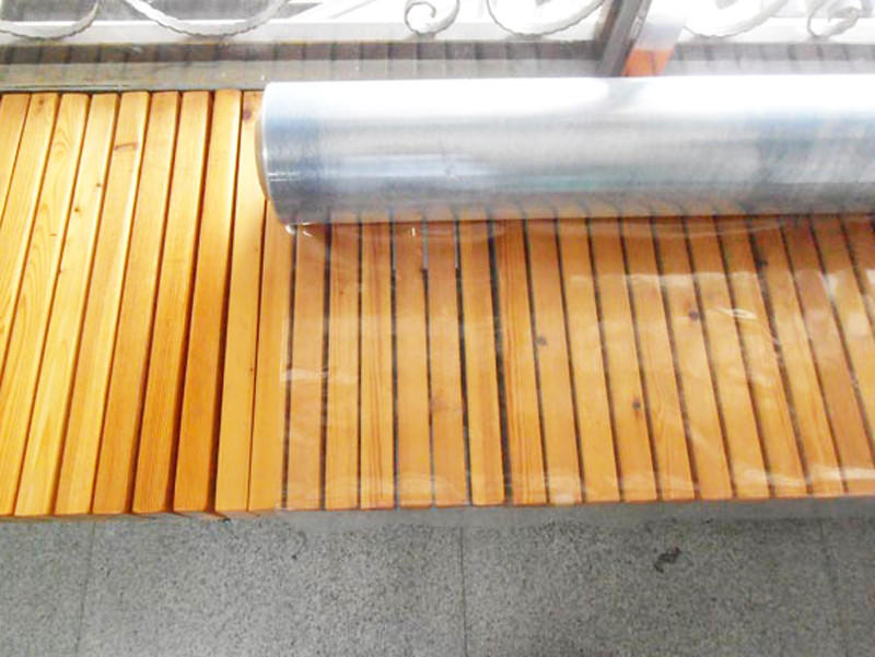 LINYANG anti-UV clear pvc film with good price for outdoor