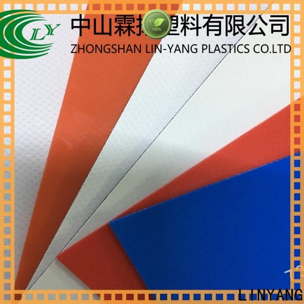 LINYANG the newest PVC Tarpaulin fabric manufacturer for outdoor