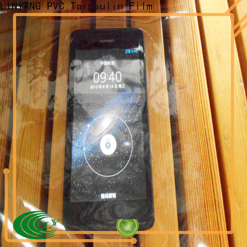 LINYANG transparent Transparent PVC Film factory for outdoor