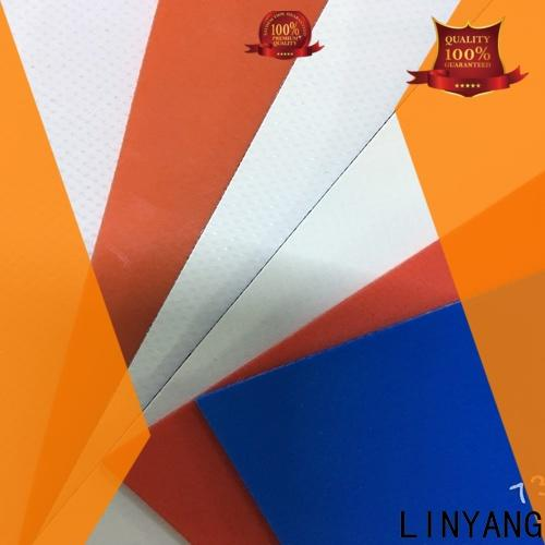 LINYANG waterproof pvc tarpaulin factory price for advertising banner