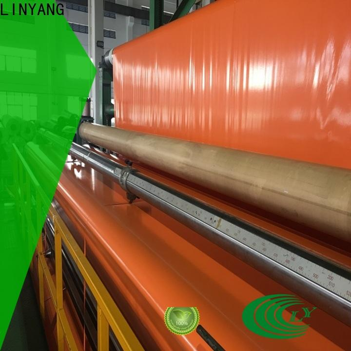 LINYANG pvc coated tarpaulin factory