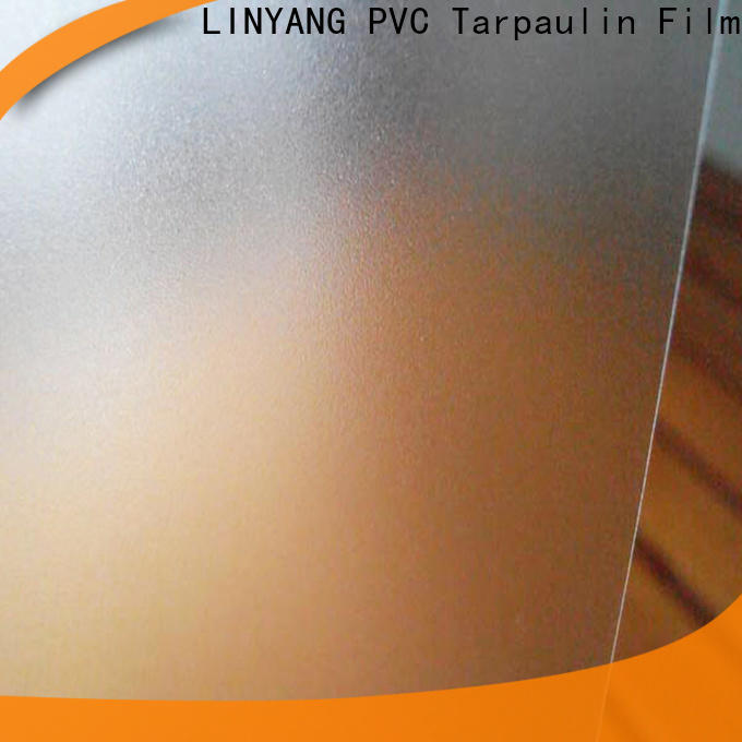 LINYANG film Translucent PVC Film personalized for plastic tablecloth
