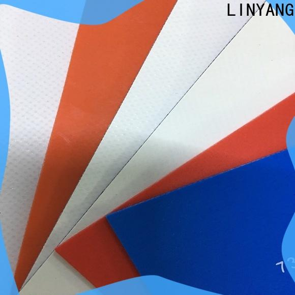 LINYANG antistripping tarpaulin film factory price for advertising banner