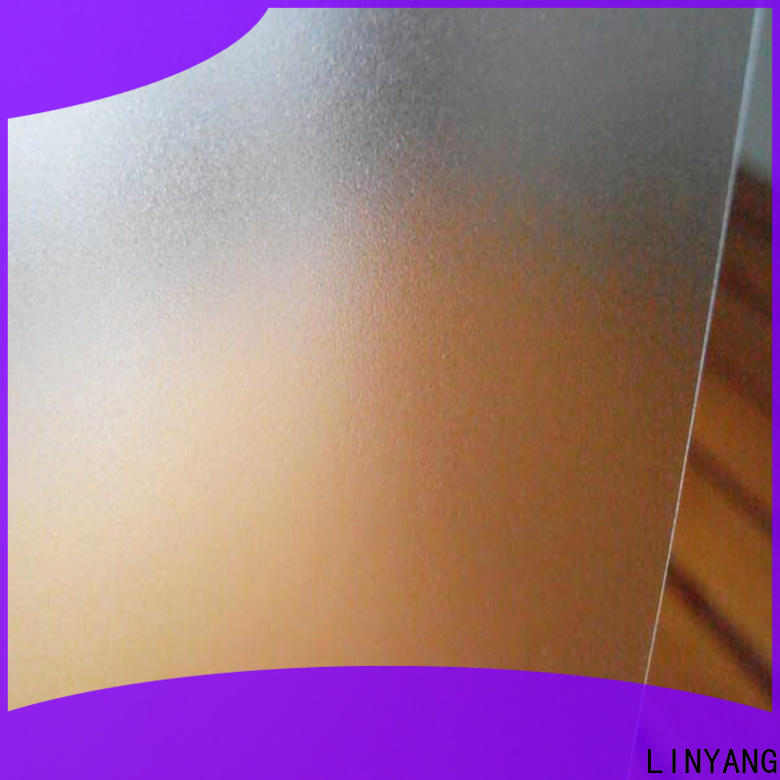LINYANG translucent Translucent PVC Film directly sale for plastic tablecloth
