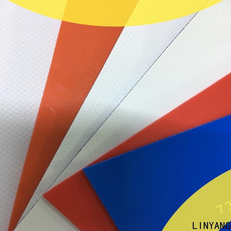 LINYANG waterproof waterproof tarpaulin design for advertising banner