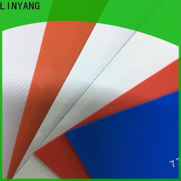 LINYANG heavy duty PVC Tarpaulin fabric factory for sale