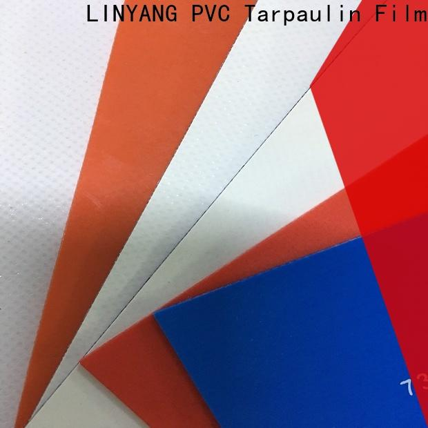 LINYANG tear pvc tarpaulin design for geotextile