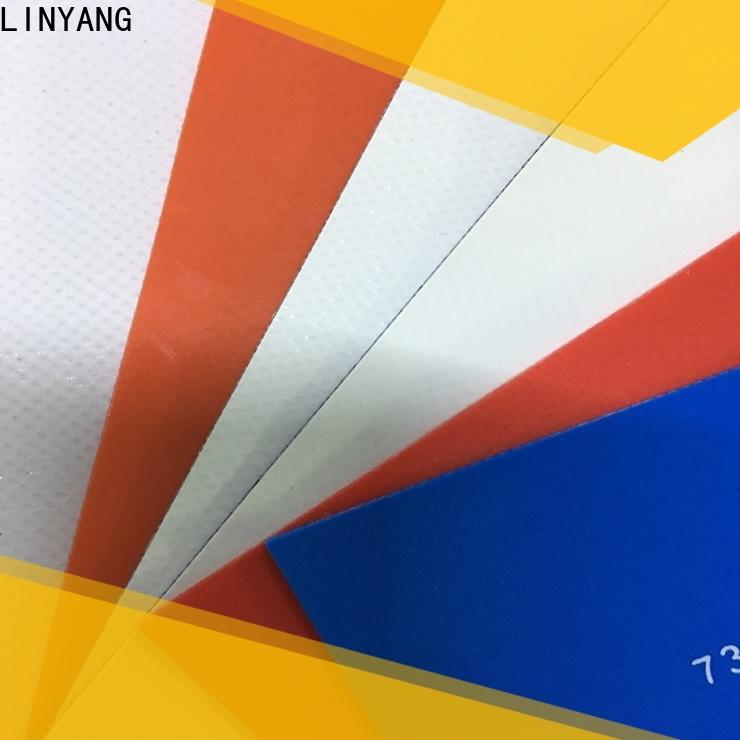 LINYANG PVC Tarpaulin fabric supplier for outdoor