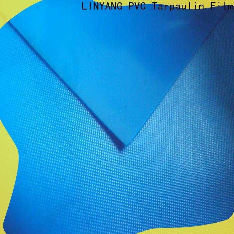 LINYANG pvc pvc plastic sheet roll design for raincoat