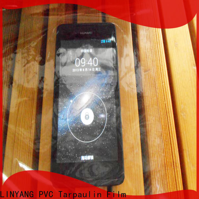LINYANG transparent Transparent PVC Film factory for handbags membrane