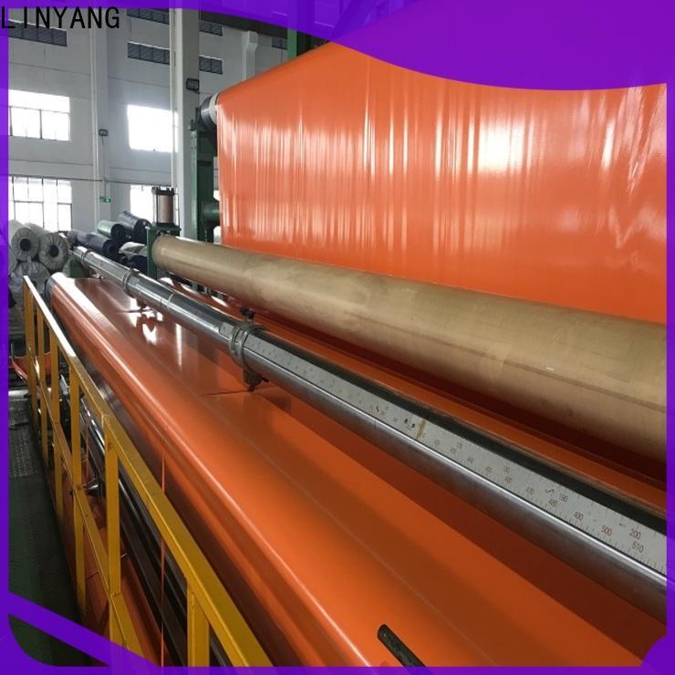 LINYANG pvc coated tarpaulin manufacturer