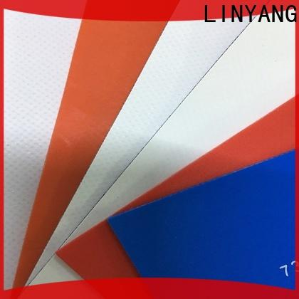 LINYANG waterproof tarpaulin film design for geotextile