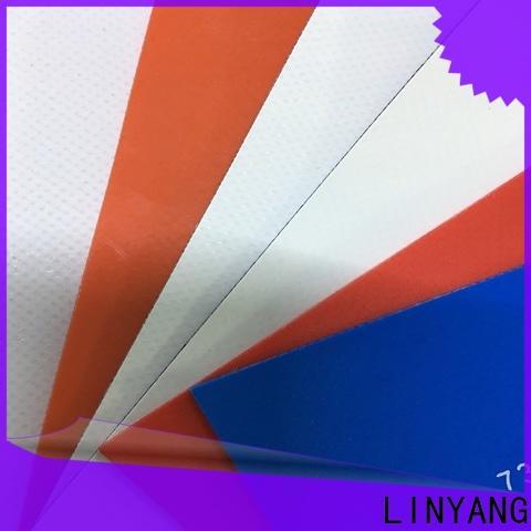 LINYANG PVC Tarpaulin fabric factory for outdoor