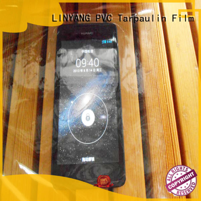 LINYANG transparent clear pvc film with good price for agriculture