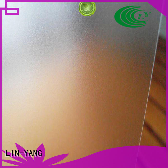 dfferent images waterproof Translucent PVC Film wall LIN-YANG company