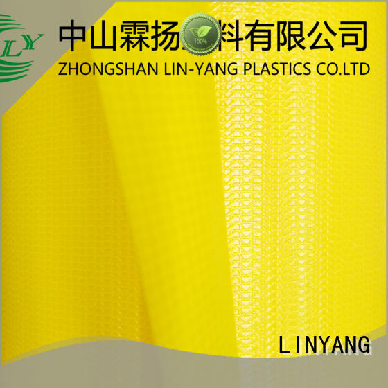 LINYANG the newest pvc coated fabric supplier for outdoor