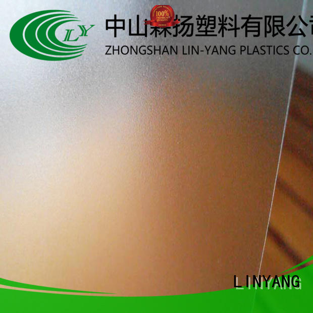 LINYANG translucent pvc film eco friendly manufacturer for shower curtain