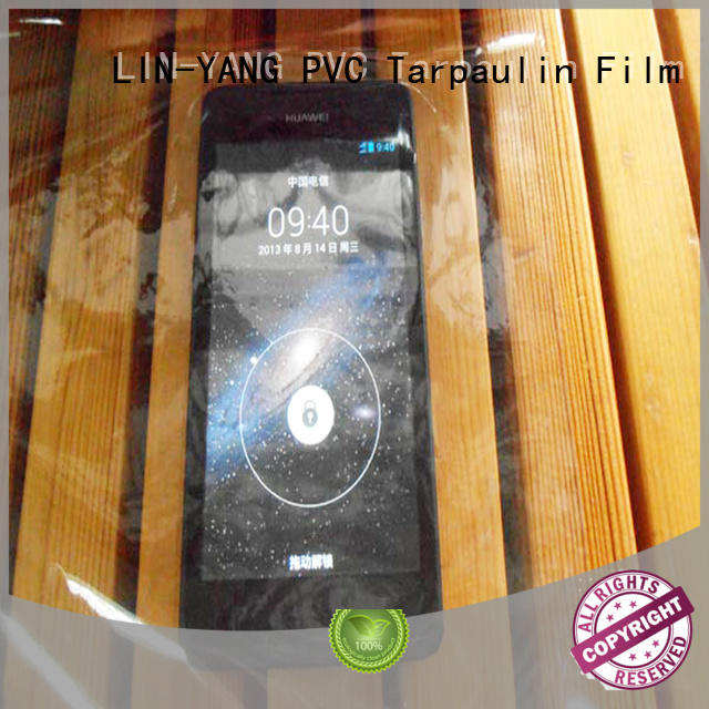 LIN-YANG Brand packaging pvc transparent film low cost supplier