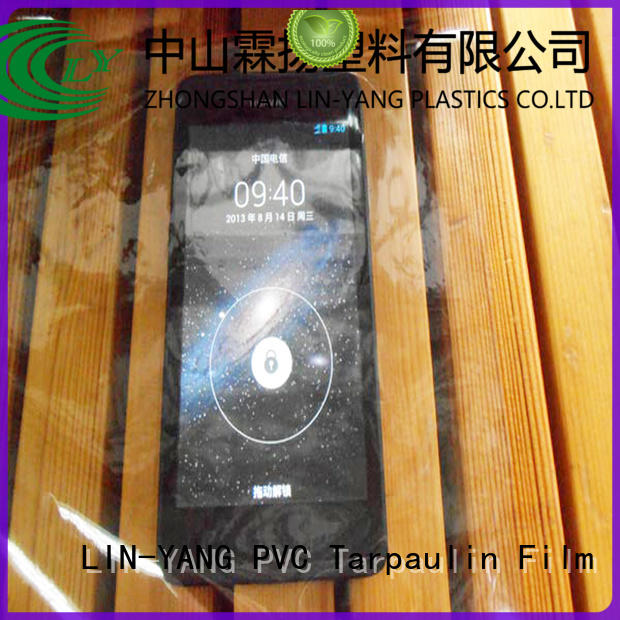 packaging Custom low cost flexible Transparent PVC Film LIN-YANG many colors