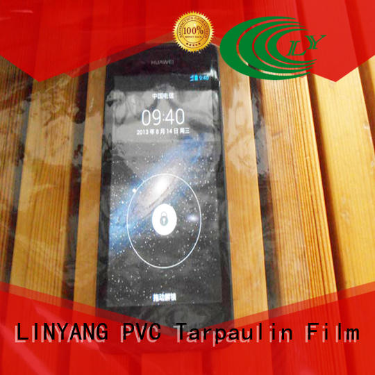 anti-UV Transparent PVC Film transparent with good price for handbags membrane