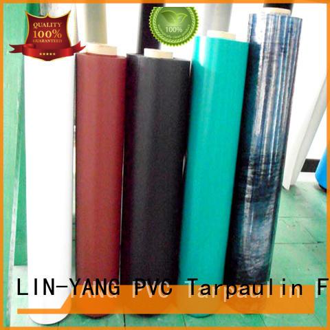 pvc plastic film low cost many colors LIN-YANG Brand company
