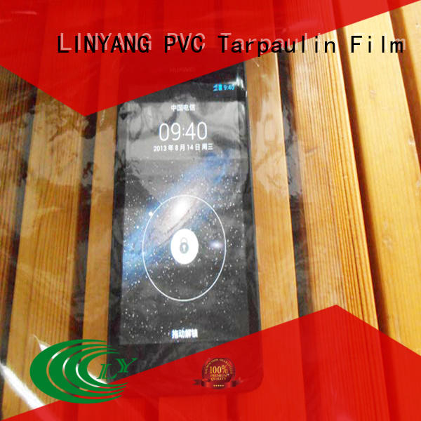 LINYANG anti-UV clear pvc film wholesale for outdoor