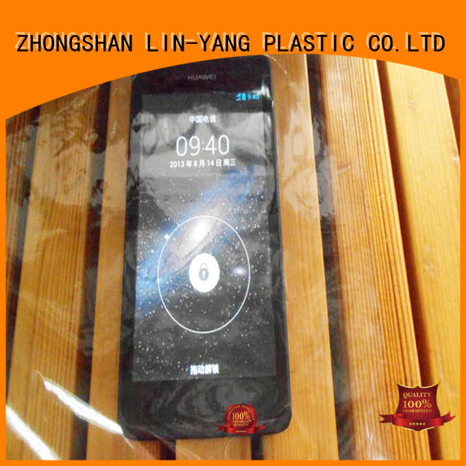 LIN-YANG Brand packaging flexible many colors Transparent PVC Film