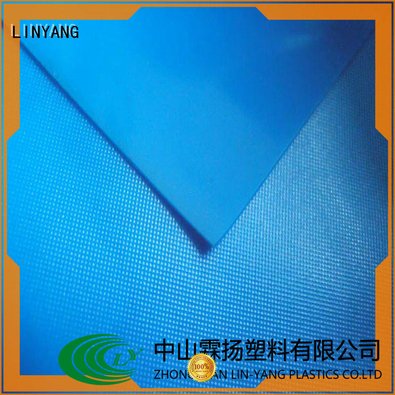 LINYANG rich pvc plastic sheet roll factory price for raincoat