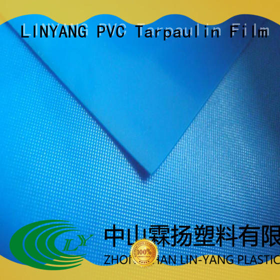LINYANG standard pvc plastic sheet roll factory price for umbrella