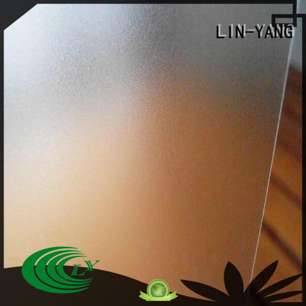 translucent pvc translucent film antifouling for shower curtain LIN-YANG
