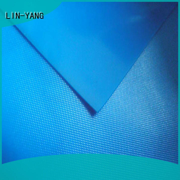 LIN-YANG widely used white pvc film factory price for umbrella
