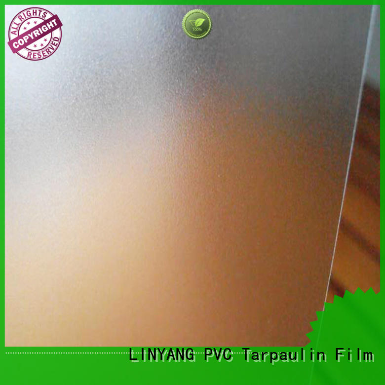 LINYANG waterproof pvc film eco friendly personalized for plastic tablecloth