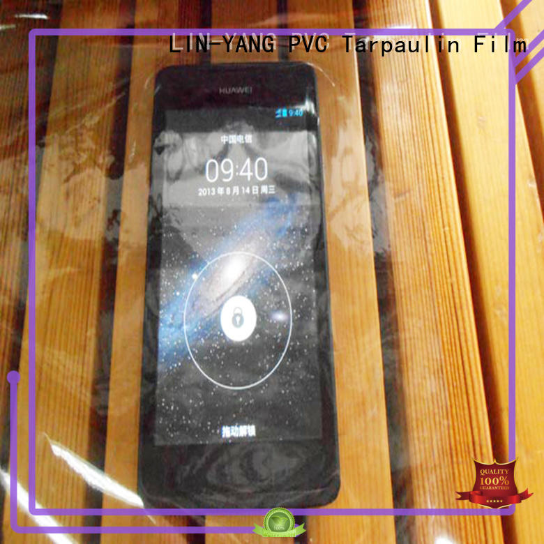 LIN-YANG Brand colorful flexible pvc transparent film low cost
