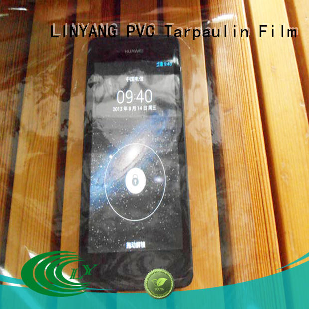 LINYANG waterproof clear pvc film customized for industry