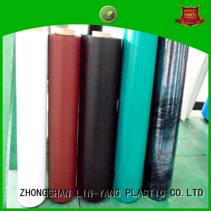 colorful customized pvc plastic film popular low cost LIN-YANG Brand