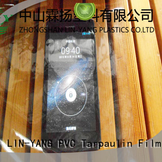 Custom anti-fouling packaging Transparent PVC Film LIN-YANG waterproof
