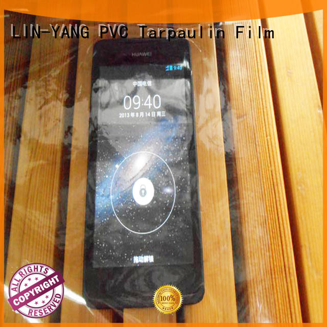 Waterproof, anti-fouling transparent PVC film
