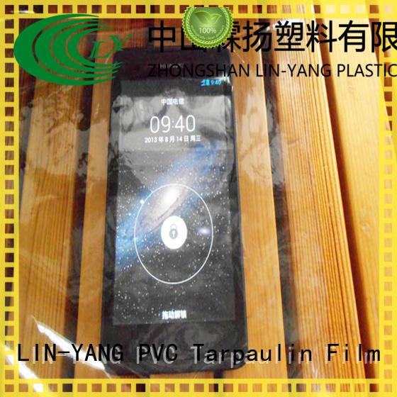 low cost flexible multiple extrusion LIN-YANG Brand Transparent PVC Film