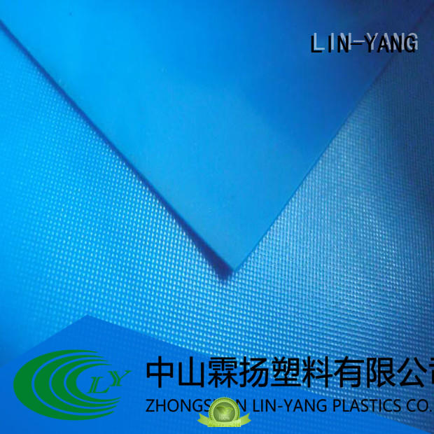 waterproof weather ability multiple extrusion normal antifouling LIN-YANG Brand pvc film roll supplier