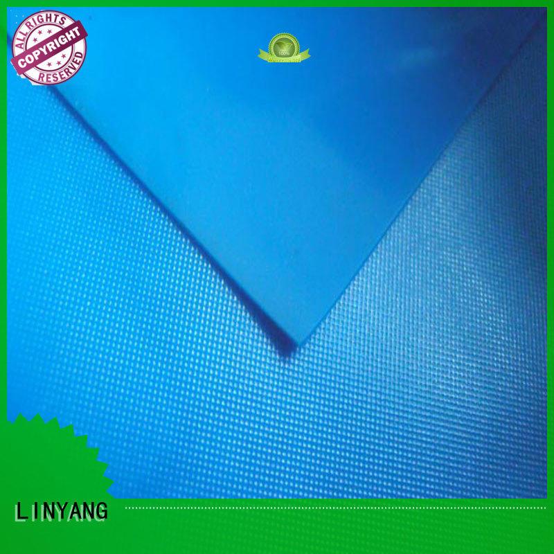 LINYANG waterproof pvc plastic sheet roll factory price for raincoat