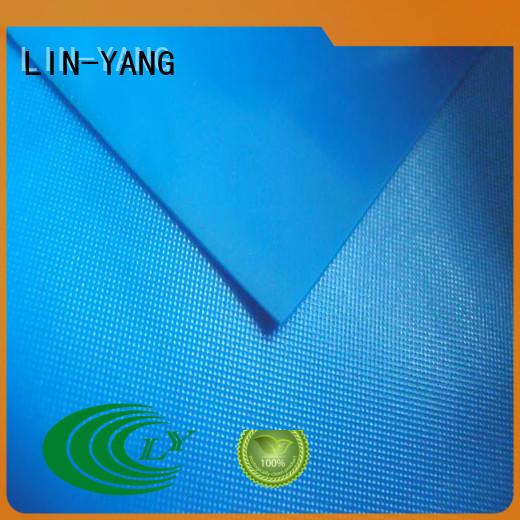 waterproof pvc plastic sheet roll film for raincoat LIN-YANG