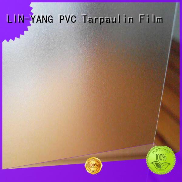 LIN-YANG translucent pvc film eco friendly film for raincoat