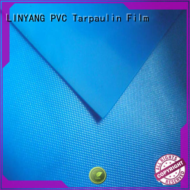 LINYANG widely used white pvc film design for raincoat