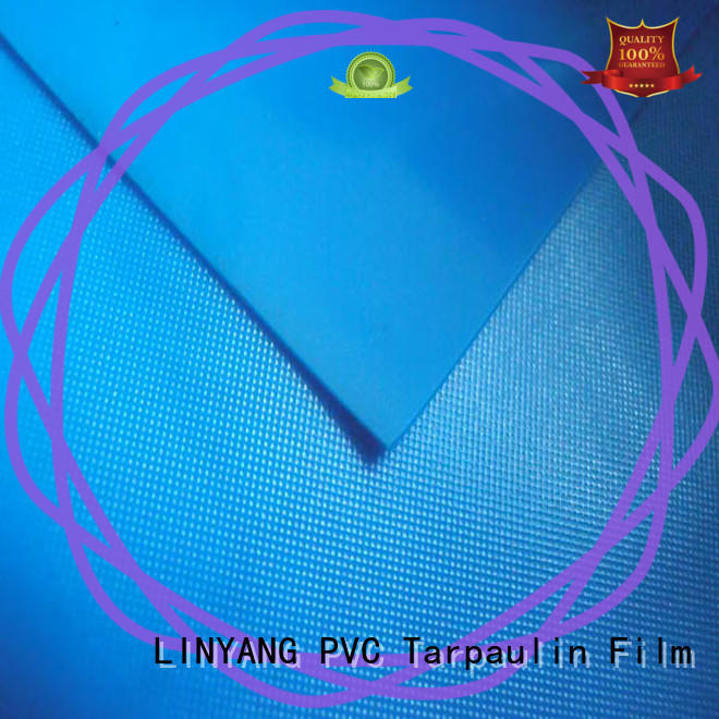 LINYANG standard pvc plastic sheet roll factory price for raincoat