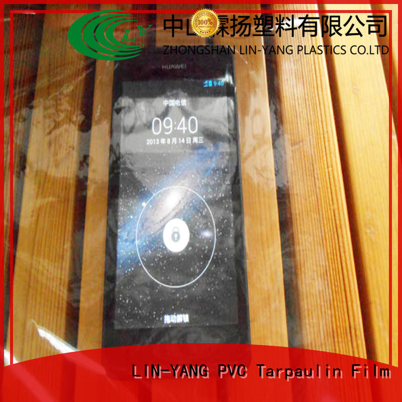 LIN-YANG Brand anti-fouling pvc transparent film multiple extrusion supplier