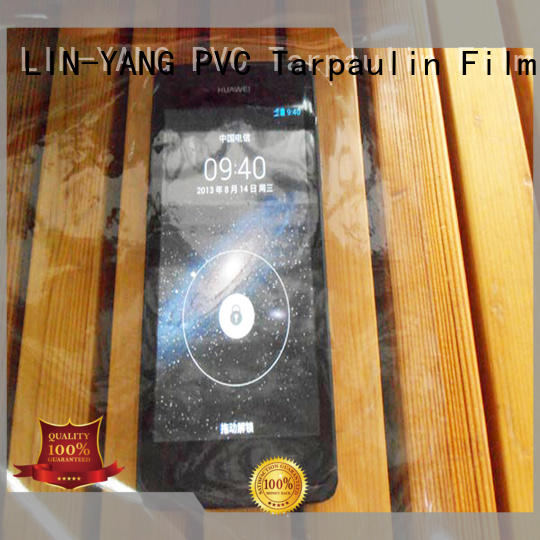 waterproof pvc transparent film customized for industry LIN-YANG