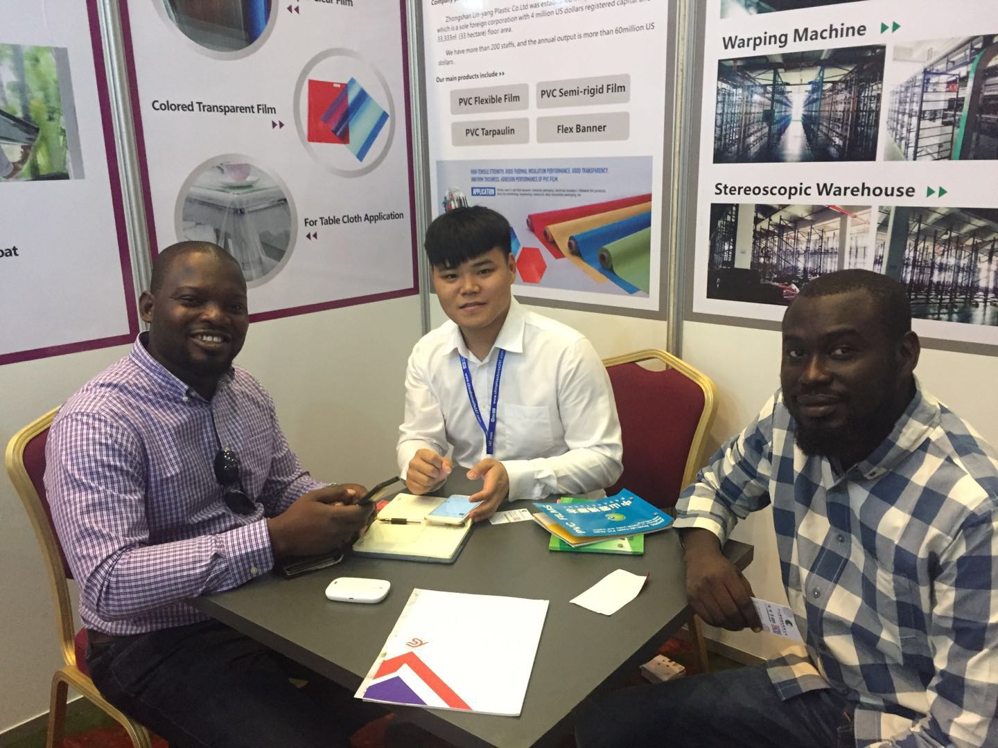 LIN-YANG-We Attended China Trade Fair 2019 Nigeria , Turkey , Poland -3