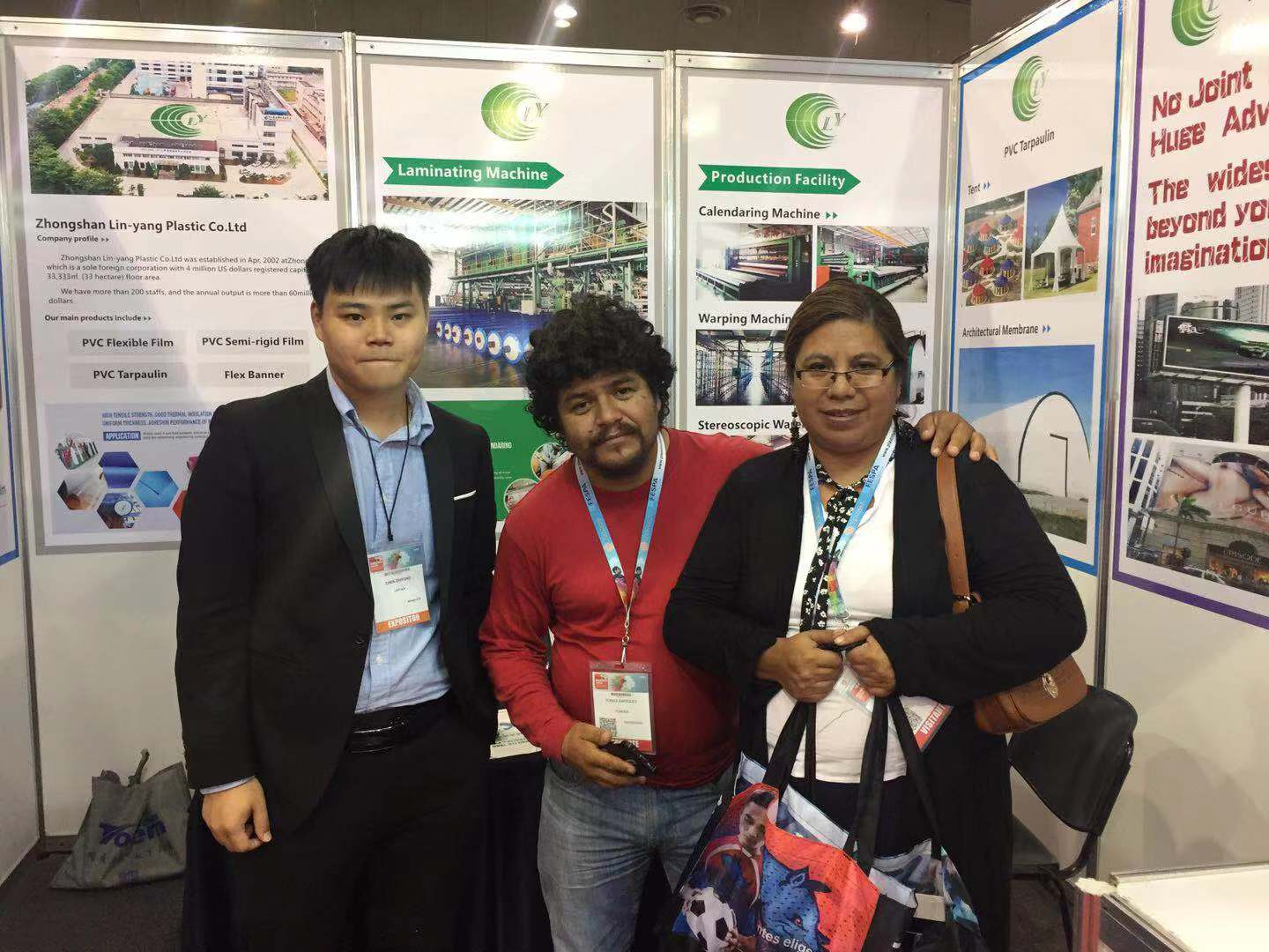 LIN-YANG-We attended fair fespa mexico 2019 with our new flex banner and pvc tarpaulin-3